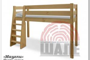 Детская кровать-чердак Маугли сосна - Мебельная фабрика «ВМК-Шале»