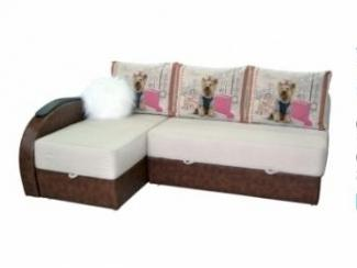 Красивый угловой диван с термопечатью Тедди - Мебельная фабрика «Viktoria»