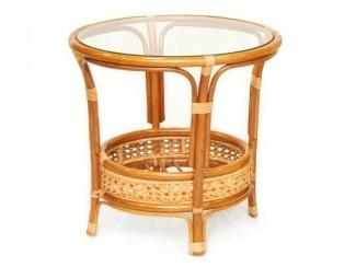 Стол из ротанга  со стеклом Пеланги арт. 02/15А Б - Импортёр мебели «ЭкоДизайн»