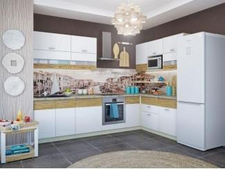 Кухня Адель белый глянец