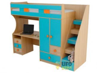 Кровать-чердак с рабочим местом - Мебельная фабрика «UFOkids», г. Санкт-Петербург