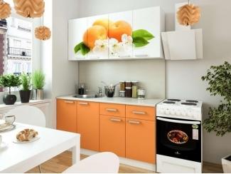 Кухня с фотопечатью Персик