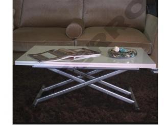 Стол трансформер White (Белый глянец) - Мебельная фабрика «IN-TERRO»