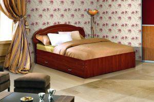 Кровать с ящиками Камея двуспальная  - Мебельная фабрика «Аристократ»