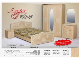 Спальный гарнитур Лаура - Мебельная фабрика «Бригантина»