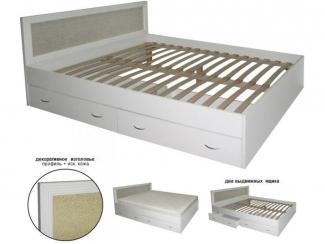 Кровать с декоративным изголовьем  - Мебельная фабрика «Техсервис»