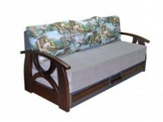 Прямой диван с деревянными подлокотниками Виктория 2 - Мебельная фабрика «Viotorri»