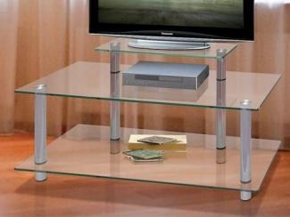 Стол под ТВ из стекла - Мебельная фабрика «Версаль»