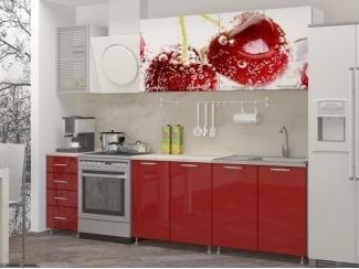 Прямая кухня Вишня с фотопечатью - Мебельная фабрика «Манго»