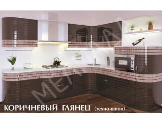 Кухня Коричневый глянец - Мебельная фабрика «Мелиада»