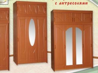 Шкаф-купе с антресолями МДФ (Топ-лайн) - Мебельная фабрика «Элна»