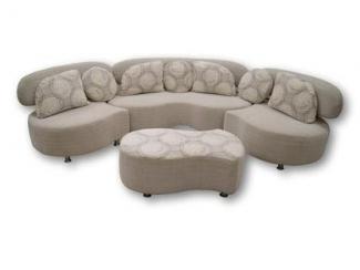 Современный серый диван Соло 4
