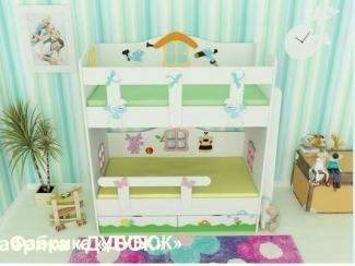 Кровать двухъярусная детская  - Мебельная фабрика «Дубок»