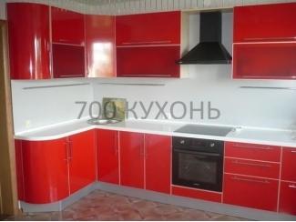 Красная угловая кухня  - Мебельная фабрика «700 Кухонь»