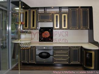 Кухня угловая Черная с патиной - Мебельная фабрика «Маруся мебель»