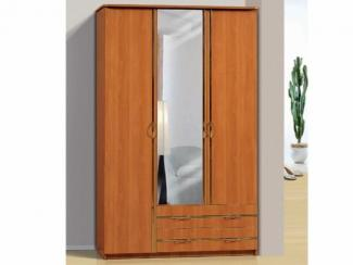 Шкаф для платья и белья 3-х створчатый с 2-мя ящиками и зеркалом - Мебельная фабрика «Актив М»