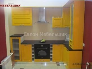 Желтая угловая кухня из МДФ - Мебельная фабрика «Мебельщик»