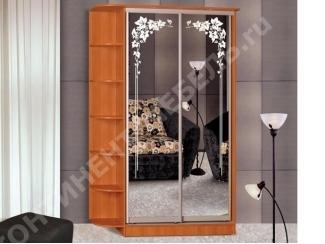 Шкаф-купе 9 с двумя зеркалами  - Мебельная фабрика «Континент-мебель»