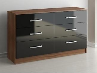 Комод 6 ящиков черный - Мебельная фабрика «Висма-мебель»