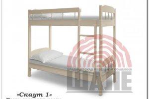 Детская двухъярусная кровать Скаут 1 - Мебельная фабрика «ВМК-Шале»