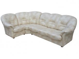 Белый угловой диван Болеро  - Мебельная фабрика «Асгард»