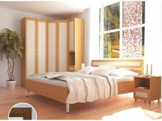 Спальня с угловым шкафом Вентура  - Мебельная фабрика «Аллоджио»