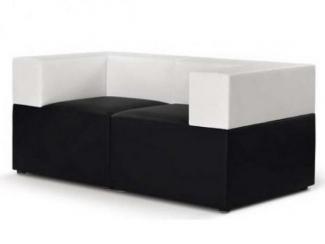 Черно-белый офисный диван СТРИТ - Мебельная фабрика «МКмебель»