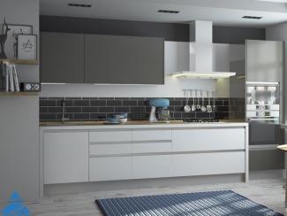 Кухня с фасадом акрил белый / пепел - Мебельная фабрика «ЗОВ»