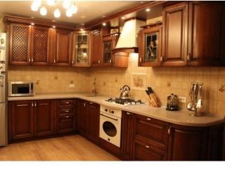 Кухня из массива дуба коричневый с патиной орех - Мебельная фабрика «Леспром»