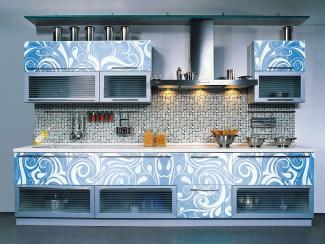Кухонный гарнитур прямой 9 фотопечать - Мебельная фабрика «Виктория»