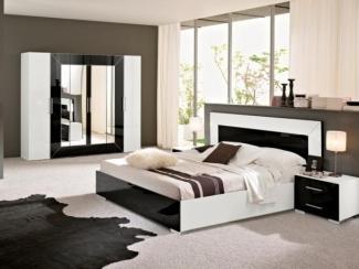 Черно-белый спальный гарнитур Гармония - Мебельная фабрика «Дар», г. Пенза