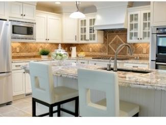 Кухонный гарнитур белого цвета Агат 10 - Мебельная фабрика «Аркадия-Мебель»
