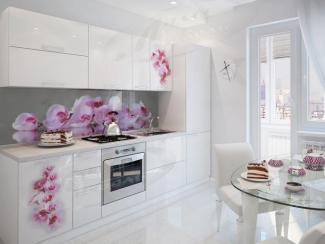 Кухня прямая «Орхидея Gloss» - Мебельная фабрика «Ладос-мебель»