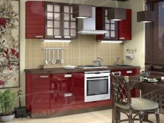 Кухня прямая «Рубин Окинава» - Мебельная фабрика «Ладос-мебель»