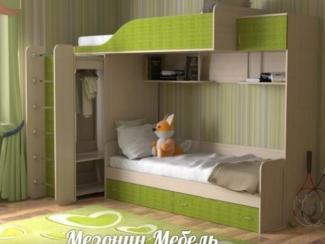 Кровать детская Дуэт 3 - Мебельная фабрика «Мезонин мебель»