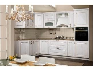 Кухонный гарнитур угловой Елена белая