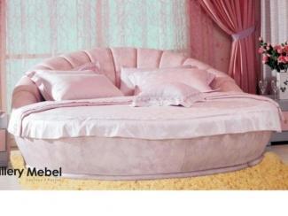 Розовая кровать Letto Rotondo 09 - Мебельная фабрика «Галерея Мебели GM»