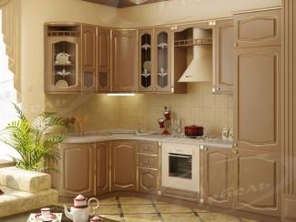 Кухня угловая «Какао Тюдор» - Мебельная фабрика «Ладос-мебель»