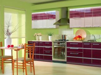 Кухня прямая Гармония (фиолетовая) - Мебельная фабрика «Стрела»