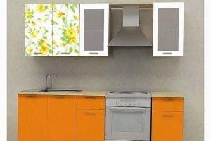 Кухонный гарнитур Желтый орнамент - Мебельная фабрика «Союз-мебель»