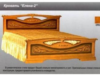 Кровать Елена 2 - Мебельная фабрика «Мебельная Сказка»