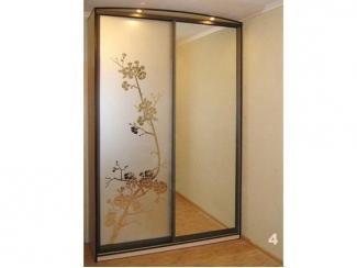 Шкаф-купе с пескоструйным рисунком и зеркалами
