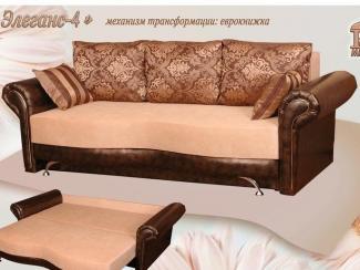 Диван прямой Элеганс 4 Еврокнижка - Мебельная фабрика «Росмебель»