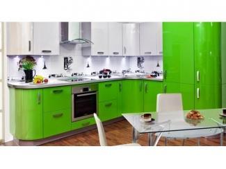 Зеленая глянцевая кухня Пластик - Мебельная фабрика «Вектра-мебель»