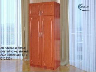 Шкаф Флагман 1.1 с несъемной антресолью - Мебельная фабрика «МВМ»