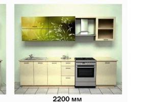 Кухонный гарнитур Зеленый лилии - Мебельная фабрика «Союз-мебель»