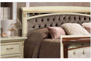 Кровать TREVISO  с простёганным изголовьем - Импортёр мебели «Camelgroup (Италия)»