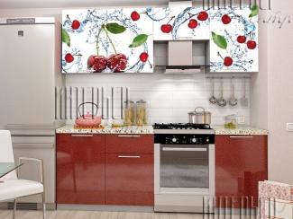 Кухня София 2,1 м Вишня (фотопечать) - Мебельная фабрика «Интерьер-центр»
