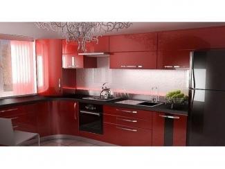 Красная угловая кухня  - Мебельная фабрика «Вектра-мебель»