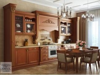 Кухонный гарнитур Бук темный мед-патина золото - Мебельная фабрика «ARVA (ООО Интерьерсервис)»